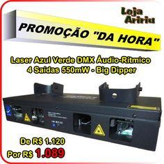 PROMOÇÃO! Laser Azul Verde 4 Saídas 550mW DMX Áudio-Rítmico Big Dipper: De R$ 1120 Por R$ 1089 em http://www.aririu.com.br/laser-azul-verde-saidas-big-dipper-550mw-dmx-audio-bivolt_170xJM