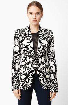 Alexander McQueen Velvet Flocked Flannel Blazer available at #Nordstrom