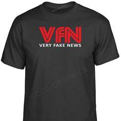 FNN Fake News Network T-Shirt Funny Joke CNN Parody Donald Trump USA
