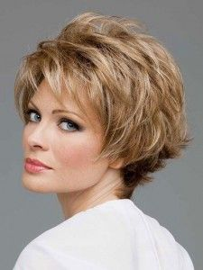 Short Layered Hairstyle for Women Over 50..
