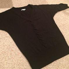 NY & COMPANY SWEATER XS V neck black sweater. It runs big. Ny & company Sweaters V-Necks