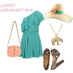 sweet summertime, created by megangaines on Polyvore