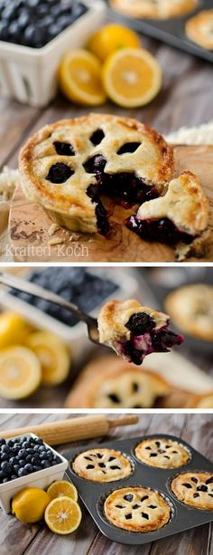 Learn how to make this Mini Blueberry & Meyer Lemon Cream Pies step-by-step with this simple tutorial. | easy dessert recipe