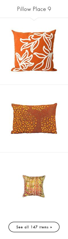 """""""Pillow Place 9"""" by mysfytdesigns ❤ liked on Polyvore featuring home, home decor, throw pillows, tangerine throw pillows, orange home accessories, orange throw pillows, orange accent pillows, orange toss pillows, lighting and navy blue home decor"""