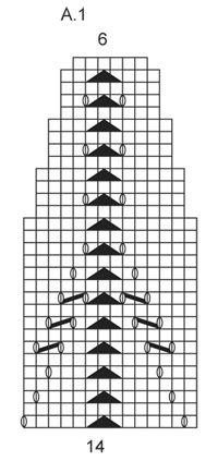 "Etoile - Conjunto: gola e boina com ajours DROPS em ""Lima"". - Free pattern by DROPS Design"