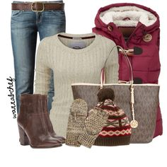 """""""Sweater and Vest Combo"""" by wannabchef on Polyvore"""