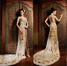 contemporary kebaya   Happy Day With a Touch of Modern Wedding Dress Kebaya