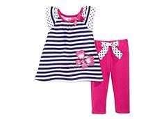 Kids Headquarters Nannette Baby Girls' 2-Piece Top & Jeggings Set : Girls : Sadie's De`claration De La Mode