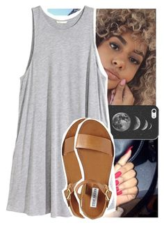 """""""I've been poppin' like a 40 end of story baby"""" by theyknowtyy ❤ liked on Polyvore featuring Casetify, H&M and Steve Madden"""