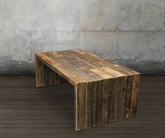 Reclaimed Wood Coffee Table, All Wood – JW Atlas Wood Co.