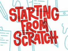 Starting from Scratch freelance letters type hand lettering typography advice designer design podcast Typography Letters, Typography Logo, Typography Design, Logo Design, Type Design, Design Web, Typography Inspiration, Graphic Design Inspiration, Types Of Lettering