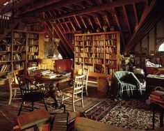 Charming Attic Remodel Hallways crazy tips can change your life: Tiny attic bedroom loft library bedroom.This resourceful homeowner used unused space in his kennebun Attic Library, Attic Playroom, Dream Library, Attic Rooms, Attic Spaces, Attic Bathroom, Attic Apartment, Cozy Library, Attic Closet