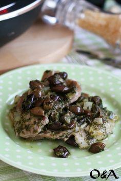 Ricetta scaloppine di maiale con rucola capperi e olive taggiasche