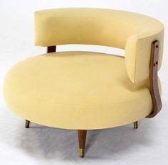 Adrian Pearsall; Swivel Lounge Chair, 1960s.