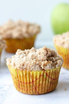 Love cinnamon and apples? Make these delicious apple coffee cake muffins with a crumb topping when you need an easy recipe idea for a breakfast or dessert that tastes like fall. Apple Coffee Cakes, Coffee Cake Muffins, Muffin Recipes, Brunch Recipes, Easy Recipes, Pinterest Recipes, Pinterest Food, Good Food, Yummy Food