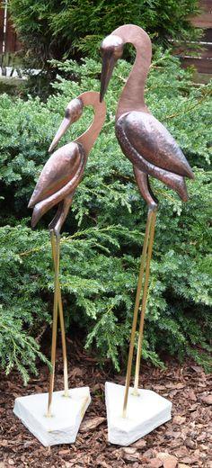 hand made copper birds