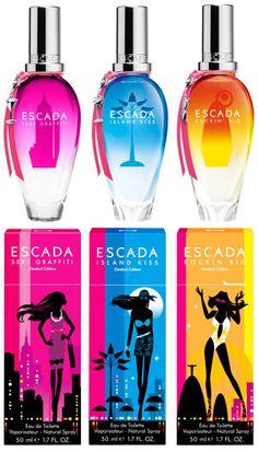 ESCADA unveils three SS12 fragrances to celebrate 20 years of summer scents. www.handbag.com/beauty