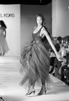 Naomi walking Michael Kors Spring 1992 show. --reminds me of the first collection I made for FDC at UVA