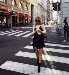 Claartje Rose, Dutch blogger, black slip dress