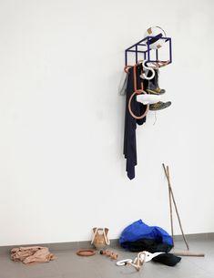 cedriccanaud Objets mouvants / basket. Coudée & pied.2019. #design #perform #play #interiordesign #industrialwood #naturalwood #outremer #terracotta