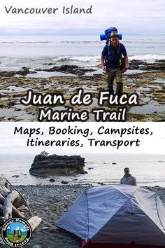 Complete Guide to book, plan, hike the Juan de Fuca Marine Trail on Vancouver Island BC Canada with Maps, trip report, transport and all you need to do this fantastic wilderness trail on the coast. Ireland Vacation, Ireland Travel, Best Hiking Gear, Wilderness Trail, Galway Ireland, Cork Ireland, Adventure Activities, Best Hikes, Transport