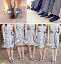 Toms shoes! so that your wedding is helping kids in need...! Also, i love patterned bridesmaid dresses