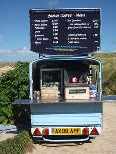 Wonderful coffee van at Constantine Bay in Cornwall