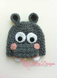 Ravelry: Hippo Beanie (Newborn - Adult) pattern by Ashley Designs