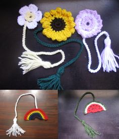 5 Crocheted Bookmarker Free Patterns with Video Tutorials by Meladora's Creations