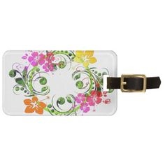 Floral Design 01 Tag For Luggage -- http://www.zazzle.com/exit78*