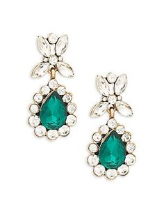 Oh Walmart, you& full of surprises. Green Earrings, Statement Earrings, Emerald Stone, Teardrop Earrings, Online Shopping Stores, Jewelry Shop, Heart Shapes, Turquoise Necklace, Pendant Necklace