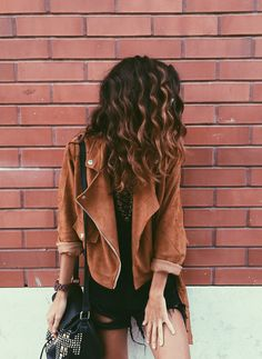 The jacket, the hair.. #somystyle