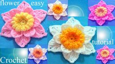 Como tejer a Crochet flores - Crochet 3D flower easy