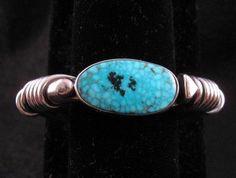 Orville Tsinnie Kingman Turquoise Silver Wrap Bracelet