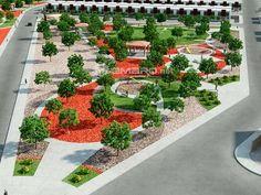 diseño de parque urbano 3d render