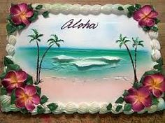 Image result for beach themed sheet cakes