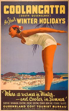 Follow the Sun: Australian Travel Posters 1930s - 1950s. Vintage Australian travel posters from the National Library of Australia.
