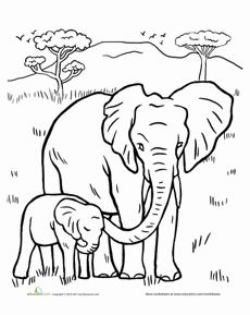 halloween elephant coloring pages - photo#36