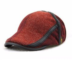 22bb07bae21 High-quality Men Autumn Cotton Washed Beret Cap Travel Casual Stripes Sun  Visor Hat -