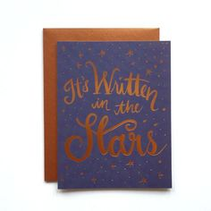 This card is hand illustrated and copper foil printed with lots of care on natural white cover stock. Blank interior + matching envelope. Sold as a single card