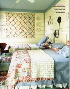 Beach Cottage Designed By Historical Concepts Quilt behind our bed or guest? Historical Concepts, Beach Cottage Style, Cottage Living, Cozy Cottage, Coastal Cottage, Beach Cottages, Beach Houses, Beautiful Bedrooms, My Dream Home