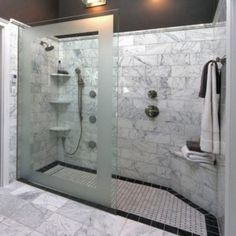 Nice Bathroom Design with Curved Walk in Shower Idea and Rock Around | Bathroom Izea