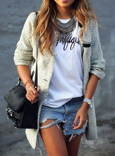 Perfect outfit to transition into spring.
