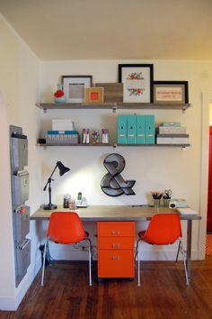 Mmmm...orange and turquoise.  I need an old turquoise typewriter slash paperweight.  haha