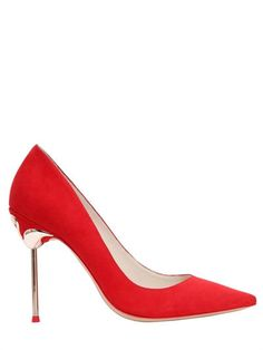 SOPHIA WEBSTER 100Mm Coco Flamingo Suede Pumps, Red. #sophiawebster #shoes #pumps