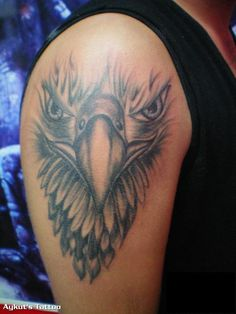 Planning to get inked and actively searching for some cool design inspiration? I'm sure you'll enjoy these top 32 best eagle head tattoo designs for men and women below. These tattoo design ideas are so cool that you'll fall in love instantly. Daddy Tattoos, Head Tattoos, Body Art Tattoos, Sleeve Tattoos, Tattoos For Guys, Cool Tattoos, Tatoos, Amazing Tattoos, Small Tattoos