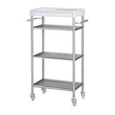 IKEA - GRUNDTAL, Carrito, , Fácil de mover. Se incluyen las ruedas.Puedes quitar las baldas. Fácil de limpiar.