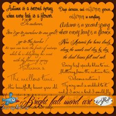 Bright fall word art by Scrap'Angie
