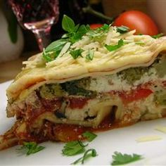Hearty Vegetable Lasagna. Super easy and freezable!