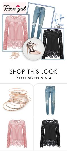 """""""How to style lace blouses"""" by hedija-okanovic ❤ liked on Polyvore featuring Red Camel, Levi's and Fratelli Karida"""